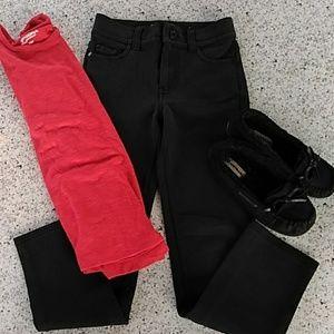 NEW LIST NWOT Girls black skinny pants size 6x/7